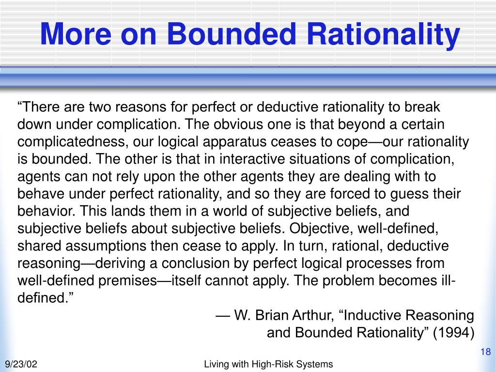 More on Bounded Rationality