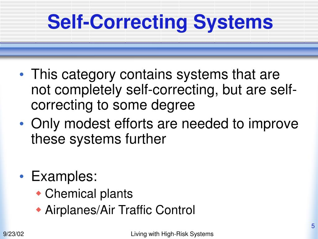 Self-Correcting Systems