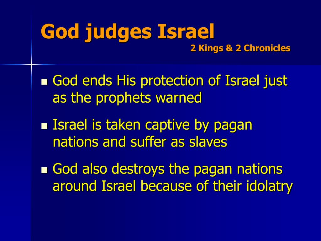 God judges Israel
