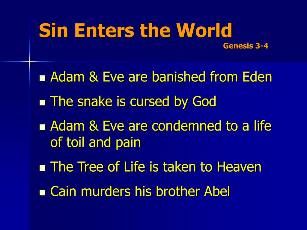 Sin Enters the World