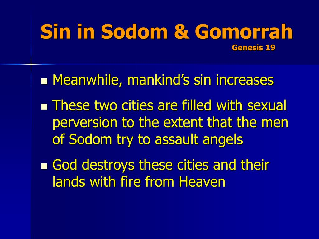 Sin in Sodom & Gomorrah