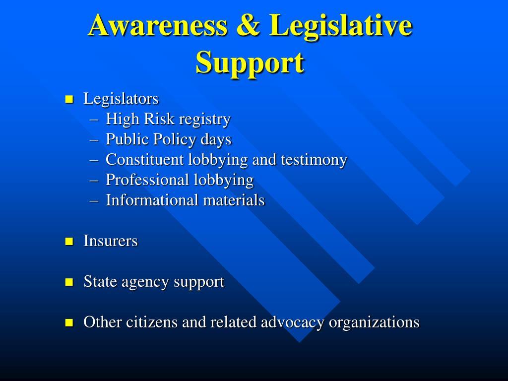 Awareness & Legislative Support