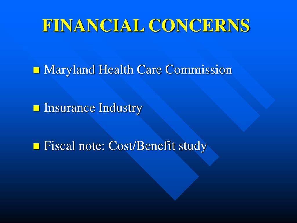 FINANCIAL CONCERNS