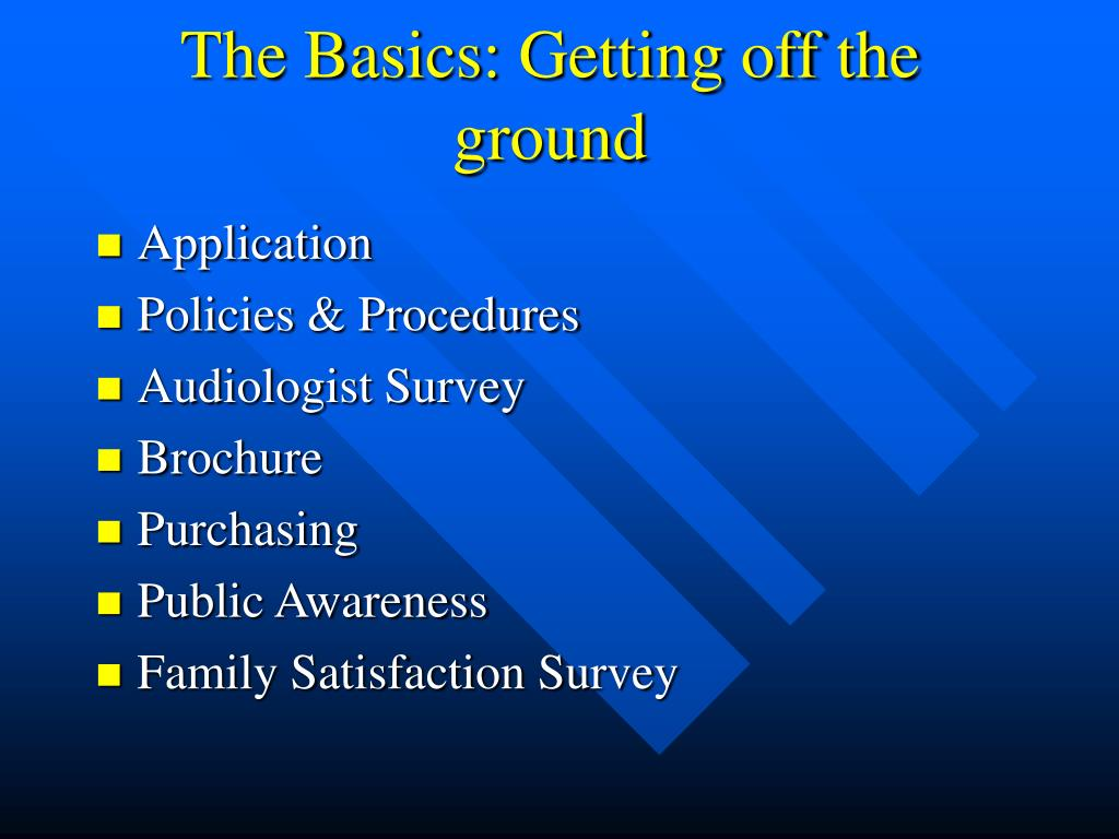 The Basics: Getting off the ground