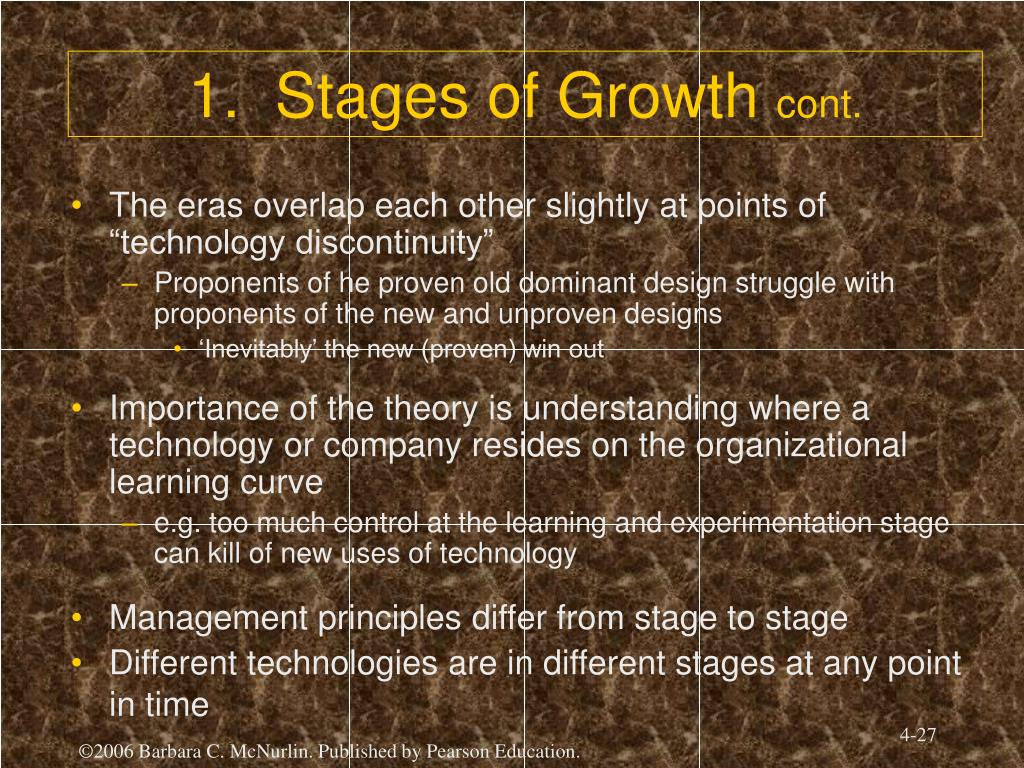 1.  Stages of Growth