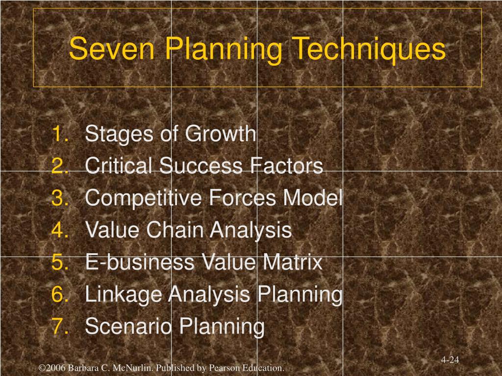 Seven Planning Techniques