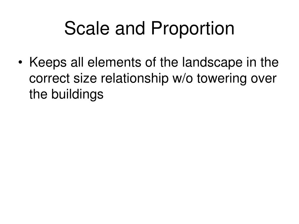 Scale and Proportion