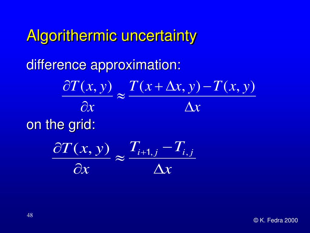 Algorithermic uncertainty