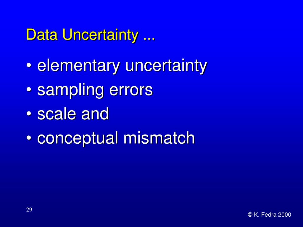 Data Uncertainty ...