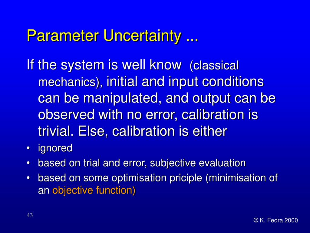 Parameter Uncertainty ...