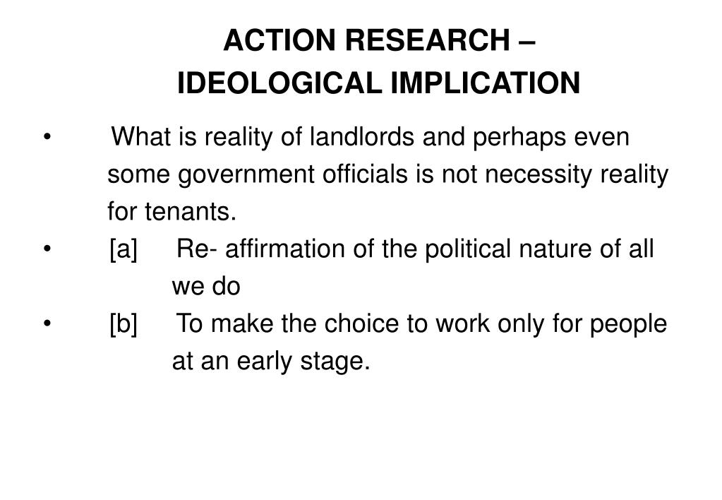 ACTION RESEARCH –