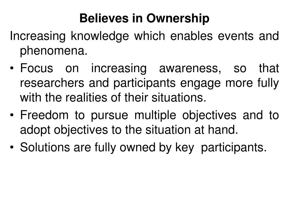 Believes in Ownership