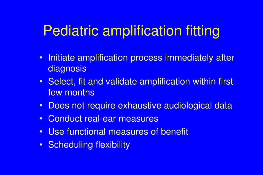 Initiate amplification process immediately after diagnosis