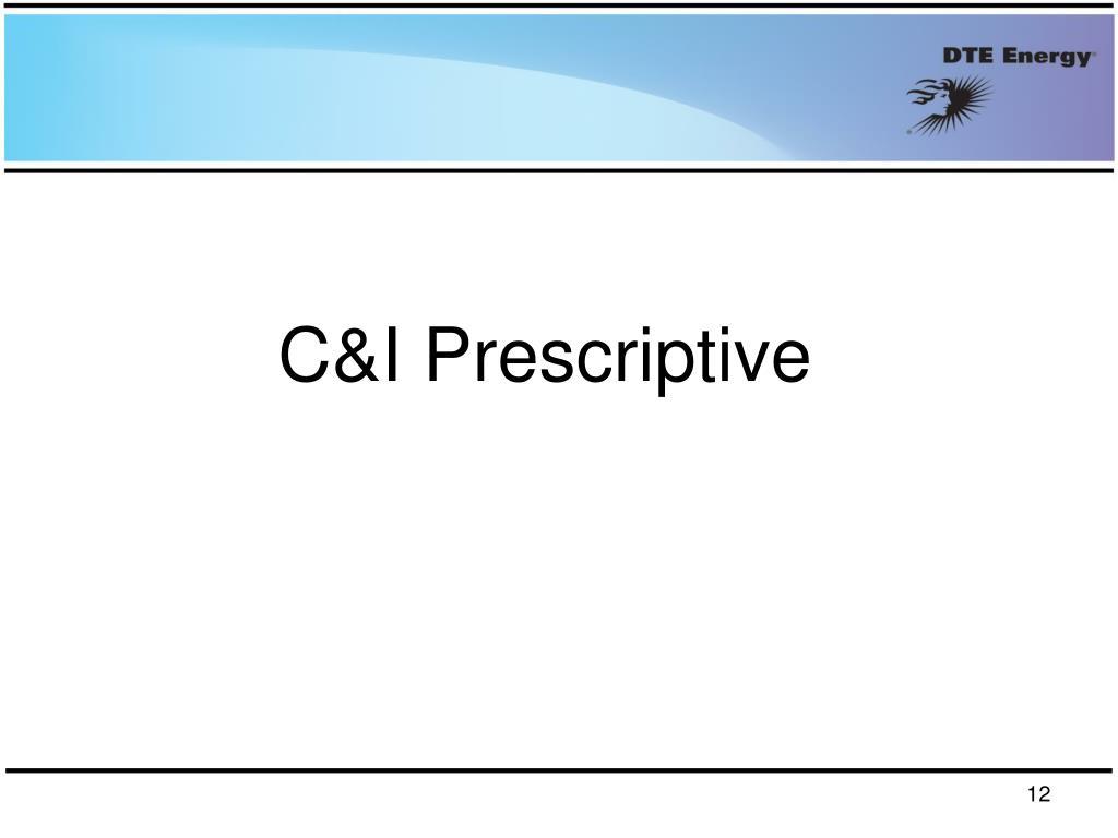 C&I Prescriptive