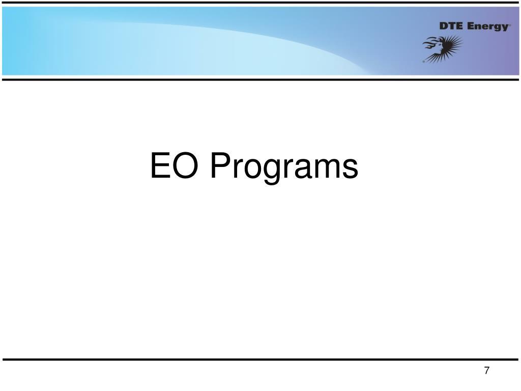EO Programs
