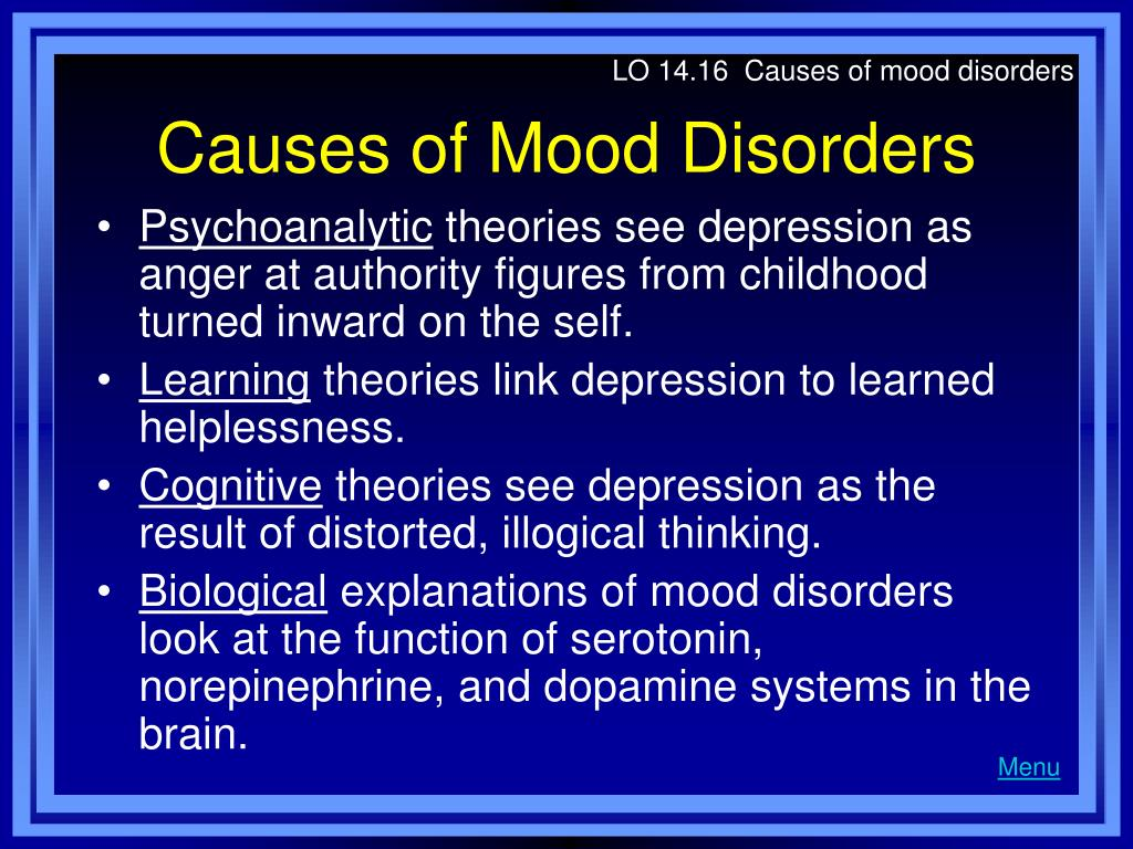 LO 14.16  Causes of mood disorders