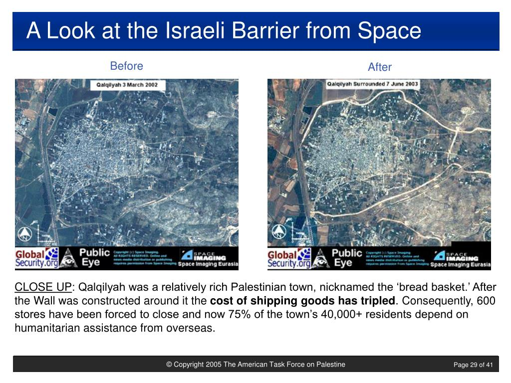 A Look at the Israeli Barrier from Space