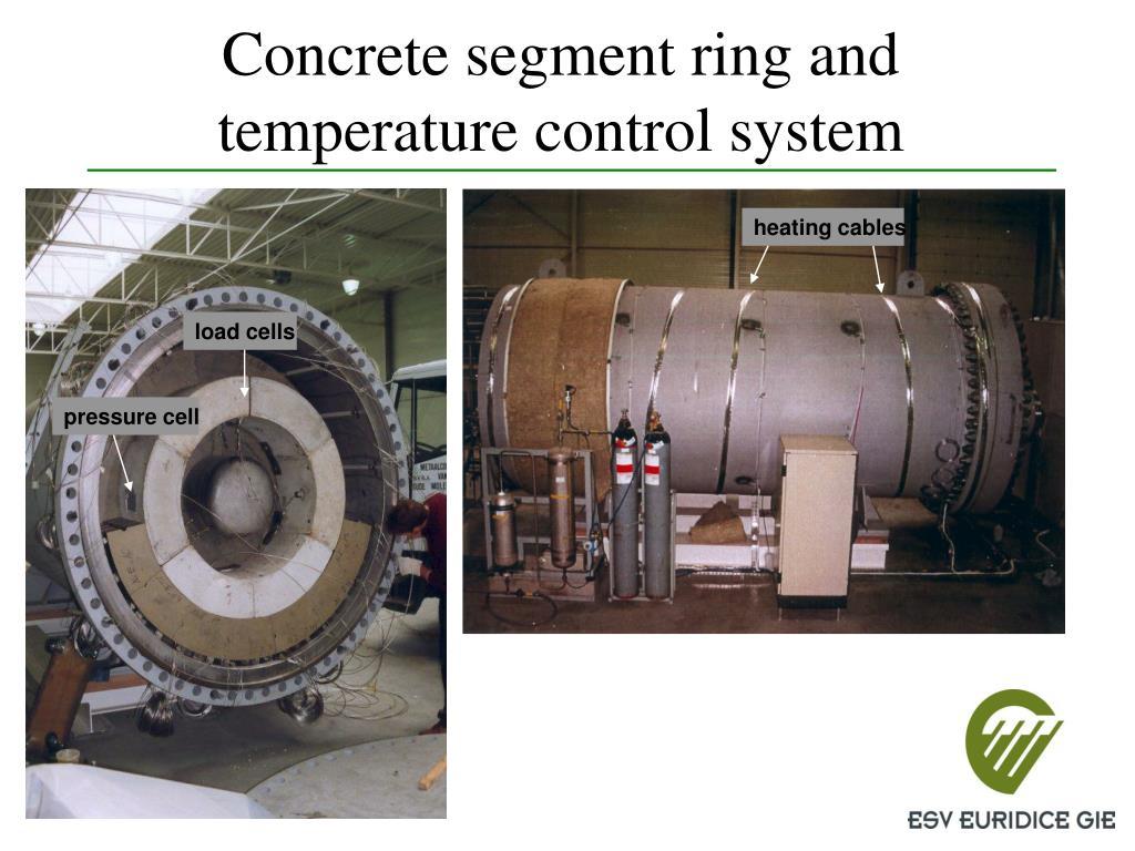 Concrete segment ring and