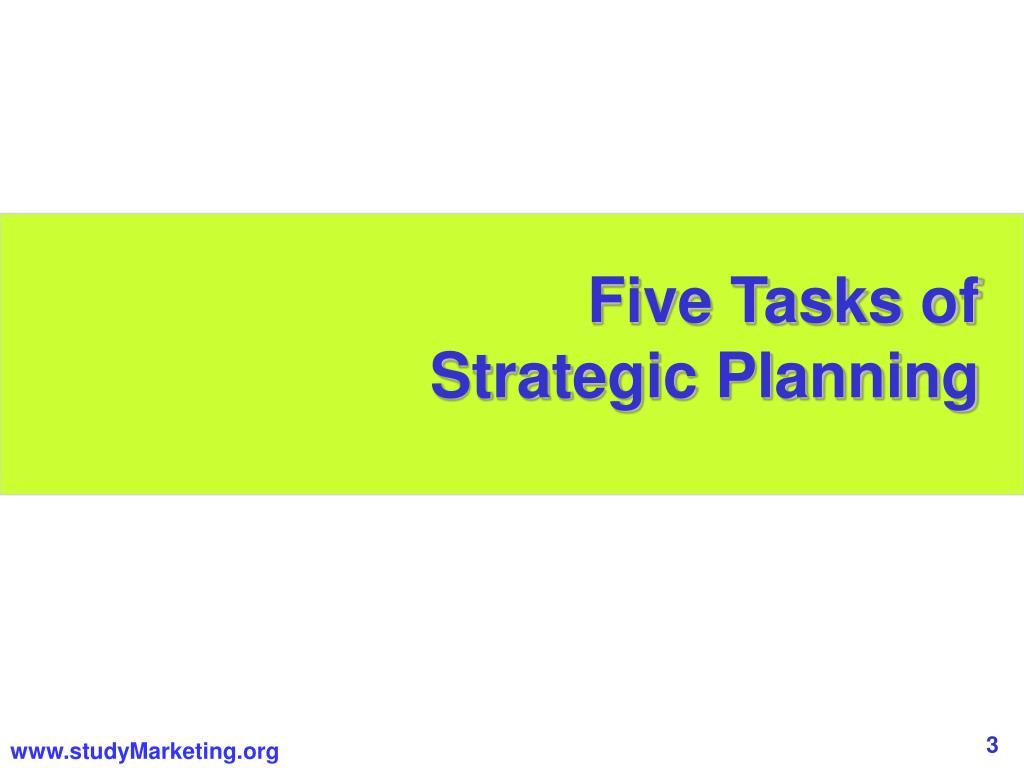 Five Tasks of