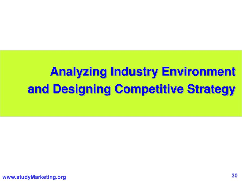 Analyzing Industry Environment