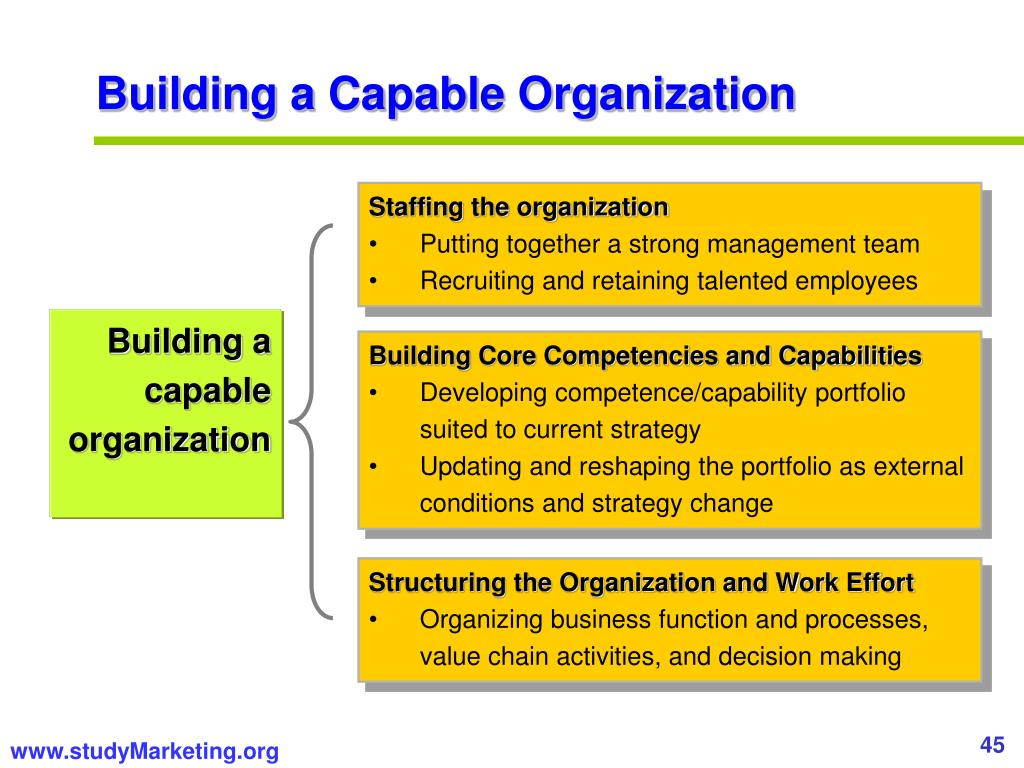 Building a Capable Organization