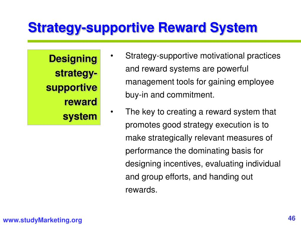 Strategy-supportive Reward System