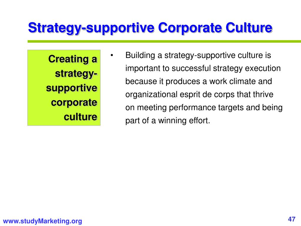 Strategy-supportive Corporate Culture