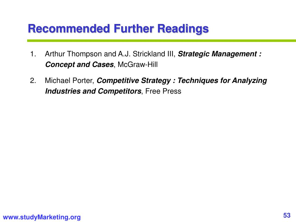 Recommended Further Readings