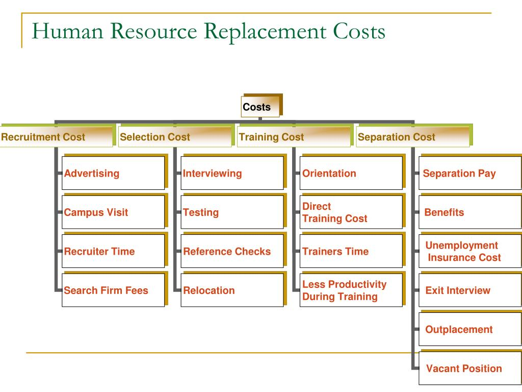 Human Resource Replacement Costs