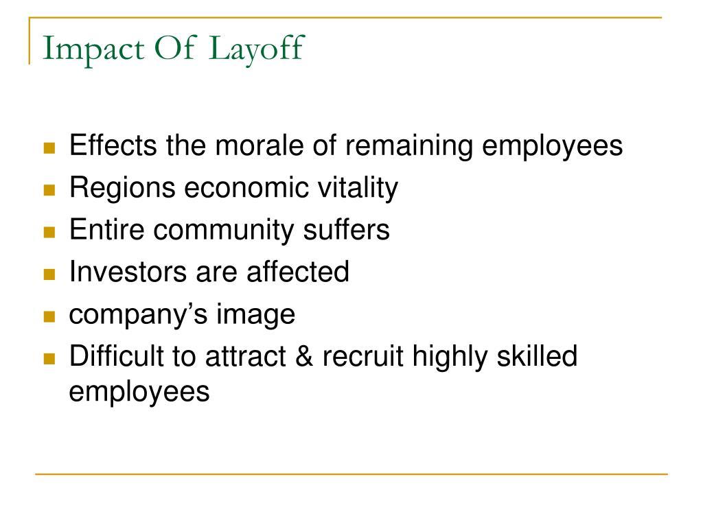 Impact Of Layoff
