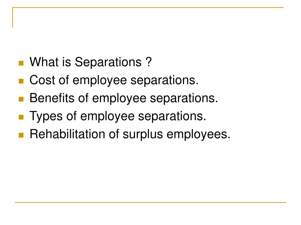 What is Separations ?