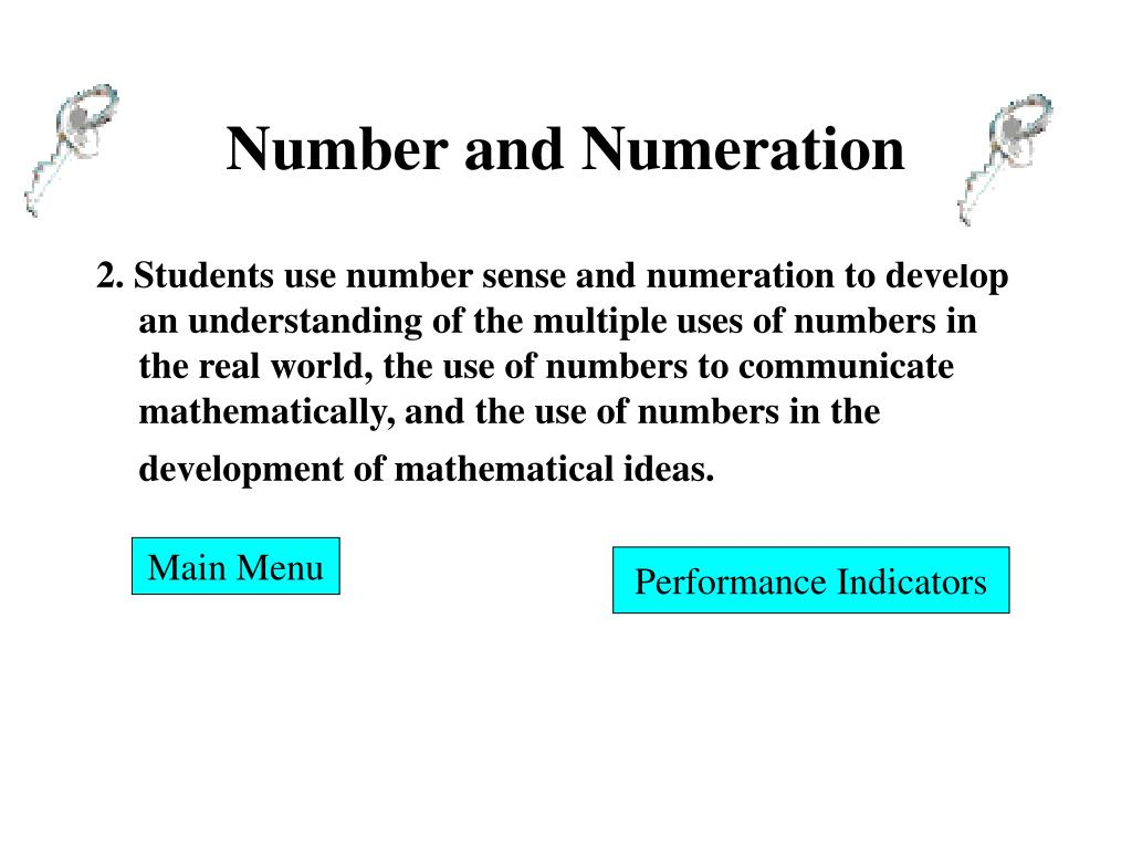 Number and Numeration