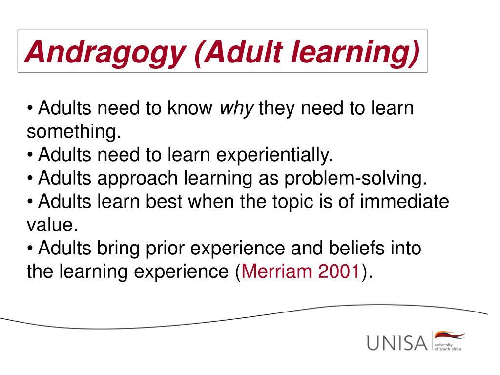 Andragogy (Adult learning)