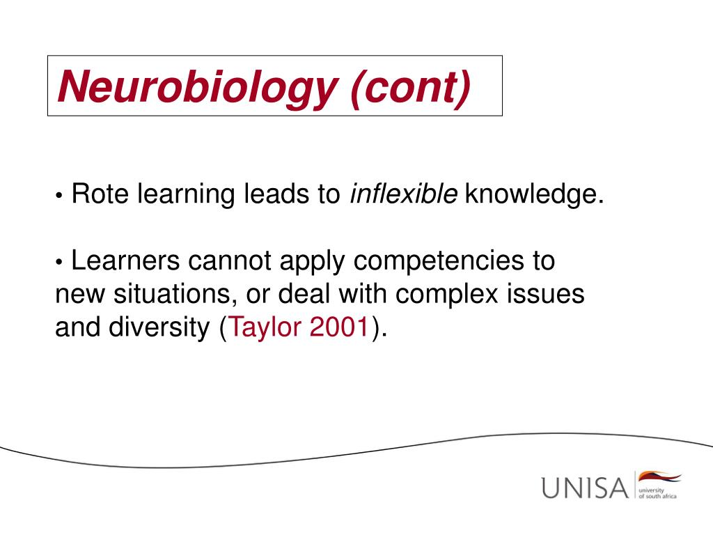 Neurobiology (cont)