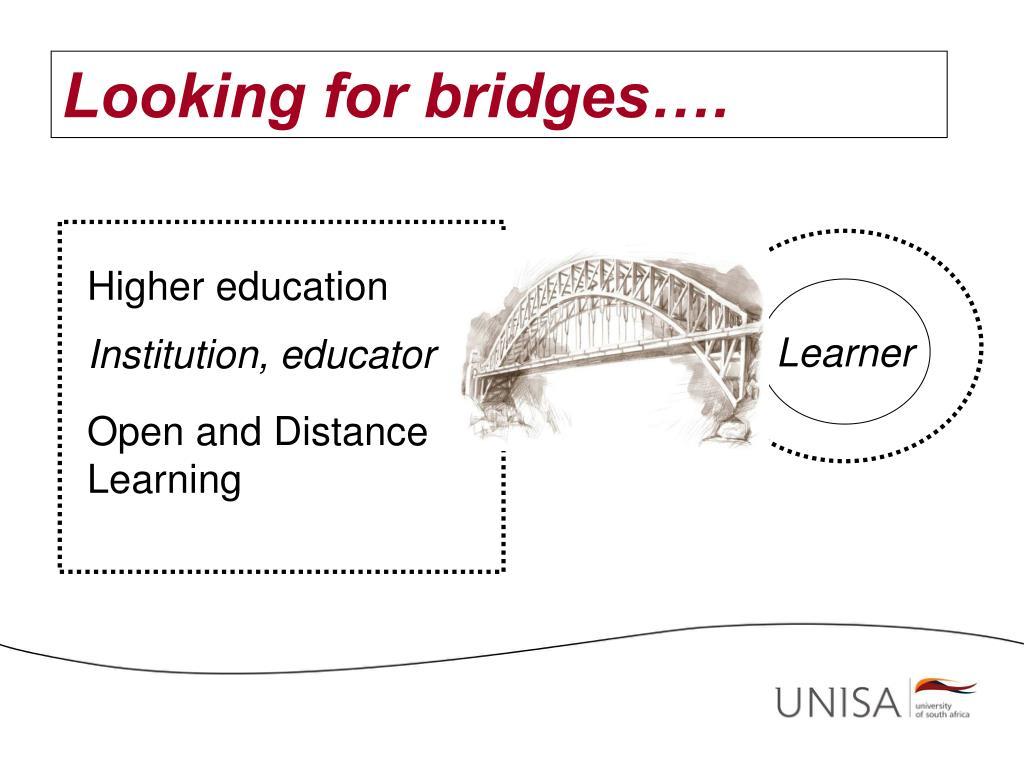 Looking for bridges….
