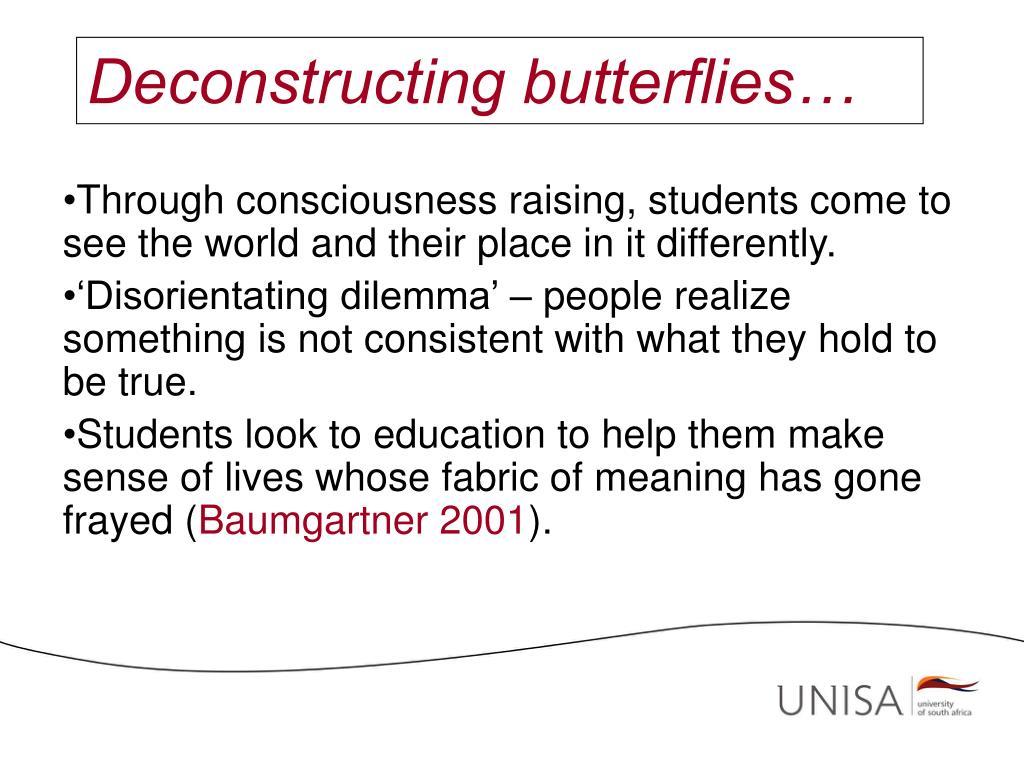 Deconstructing butterflies…