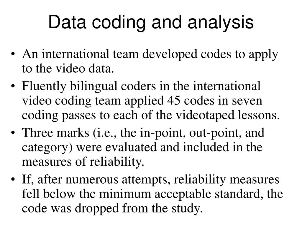 Data coding and analysis