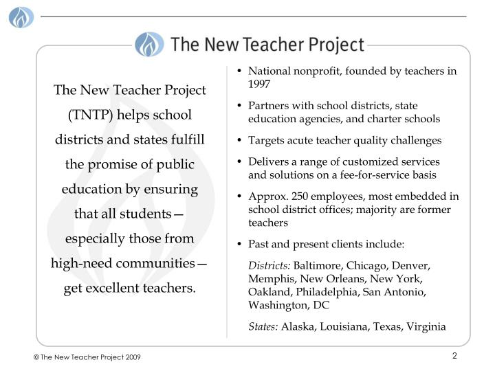 National nonprofit, founded by teachers in 1997