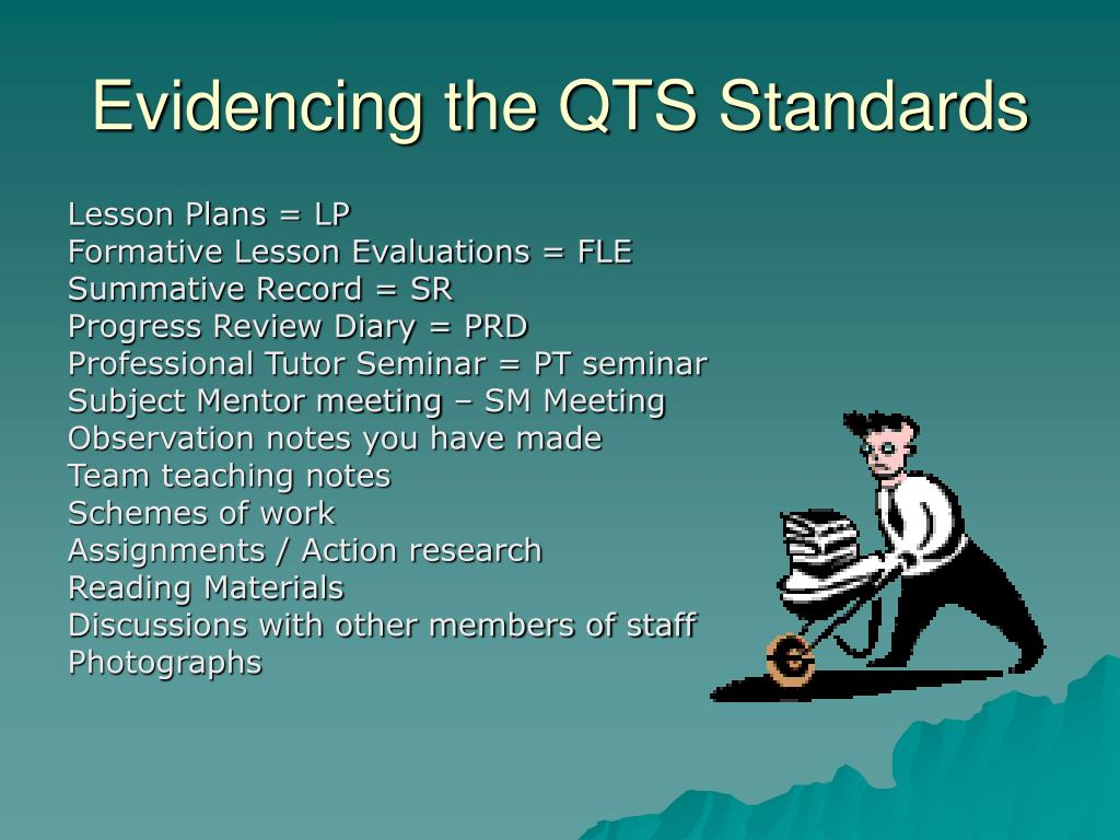 Evidencing the QTS Standards