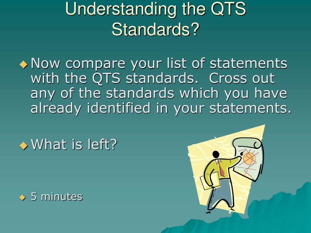 Understanding the QTS Standards?