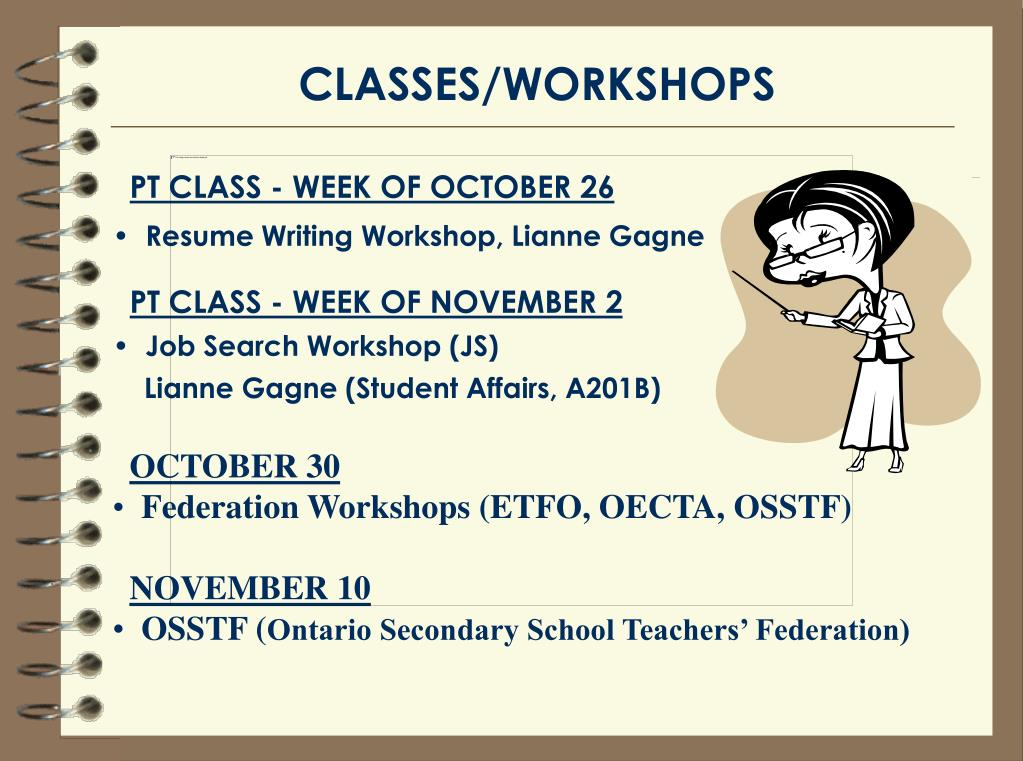 CLASSES/WORKSHOPS