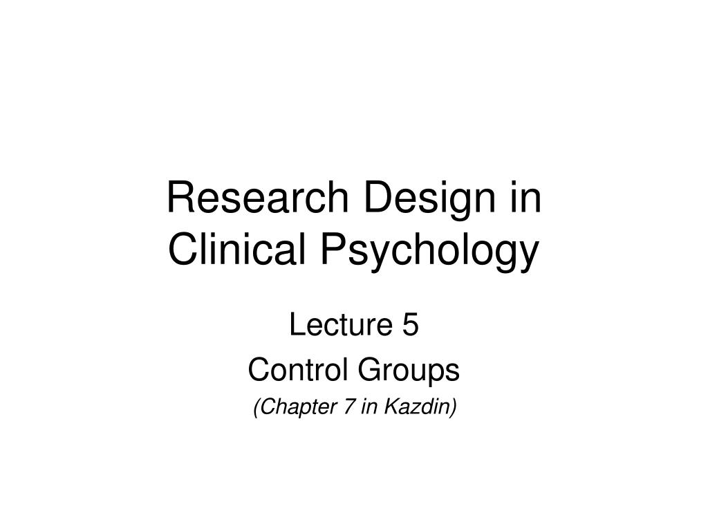 Research Design in