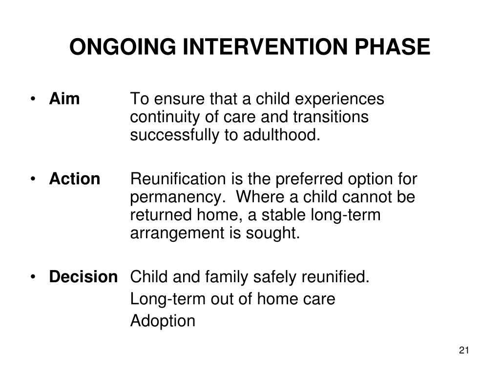 ONGOING INTERVENTION PHASE