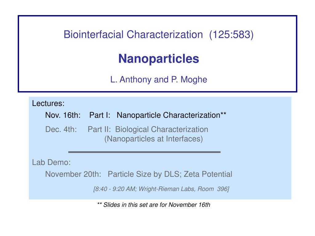Biointerfacial Characterization  (125:583)