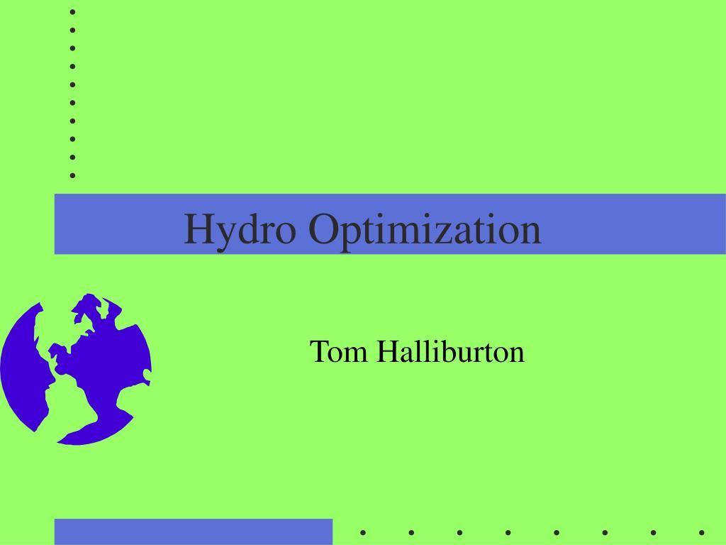 Hydro Optimization