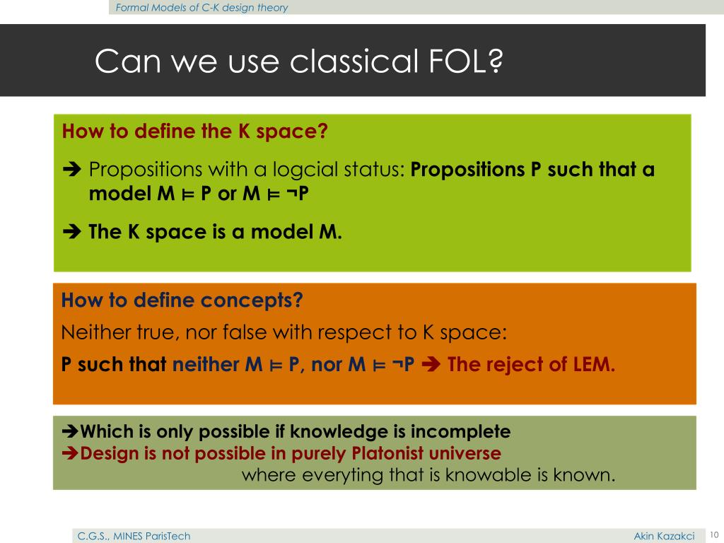 Can we use classical FOL?