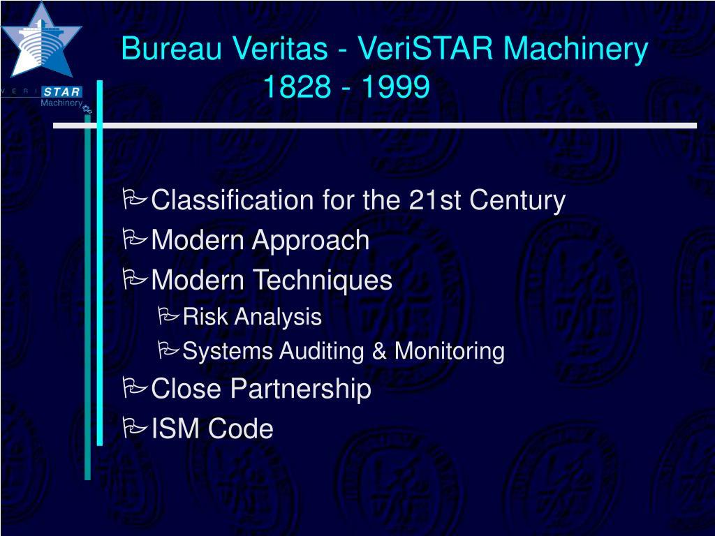 Bureau Veritas - VeriSTAR Machinery