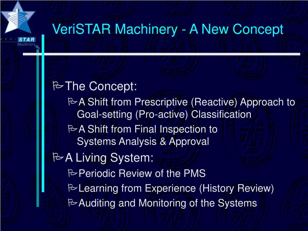 VeriSTAR Machinery - A New Concept