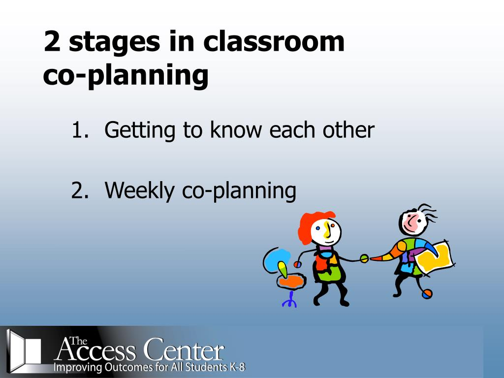 2 stages in classroom