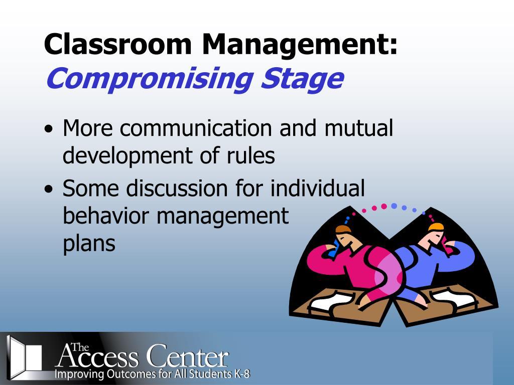 Classroom Management: